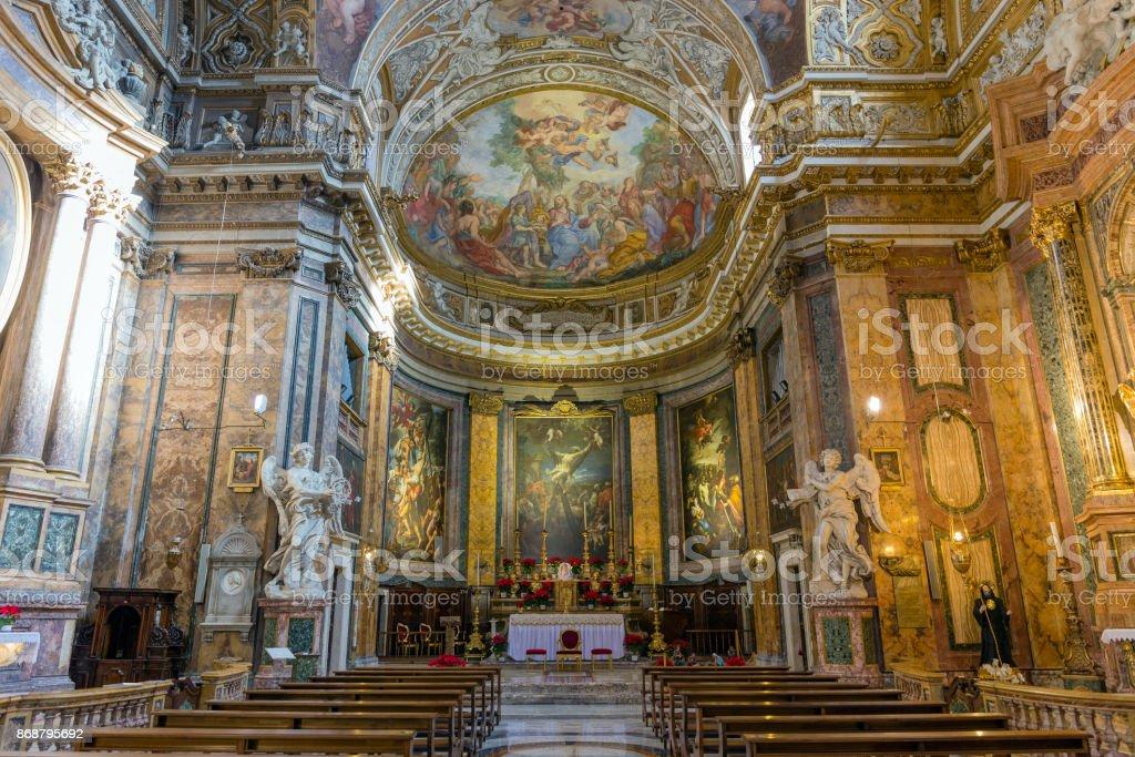 Interior da Basílica de Sant'Andrea delle Fratte, Roma, Itália. - foto de acervo