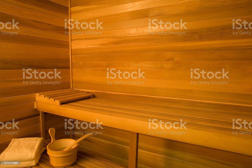 Interior Of Sauna royalty-free stock photo
