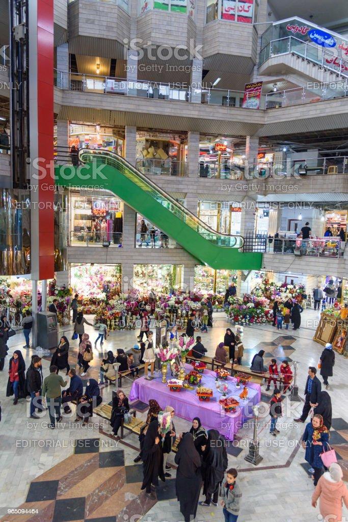 Interior of Shams Tabrizi Bazaar, shopping mall in Tabriz. East Azerbaijan province. Iran zbiór zdjęć royalty-free