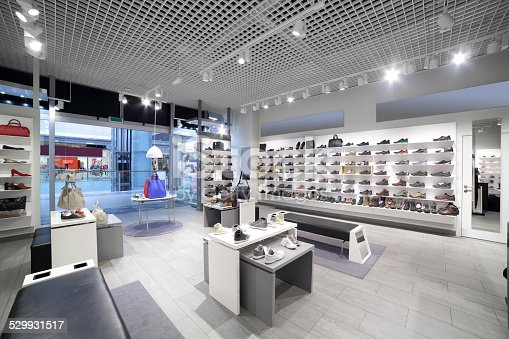 istock interior of shoe store in modern european mall 529931517