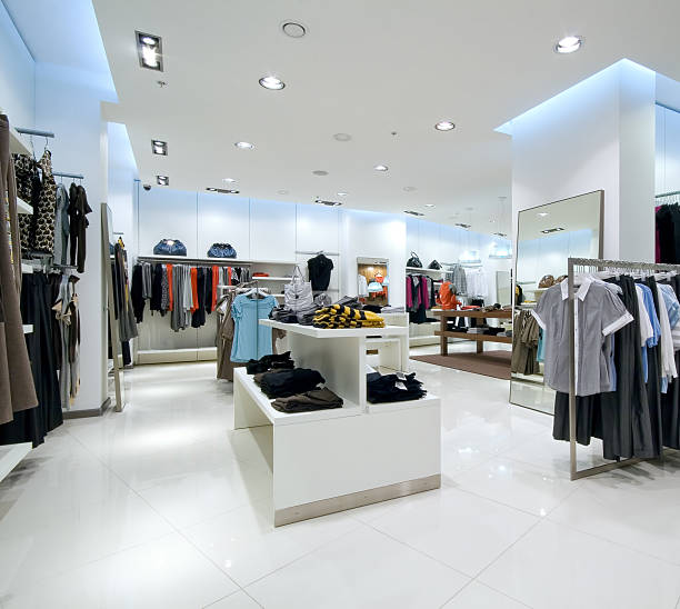Interior of shopping mall stock photo