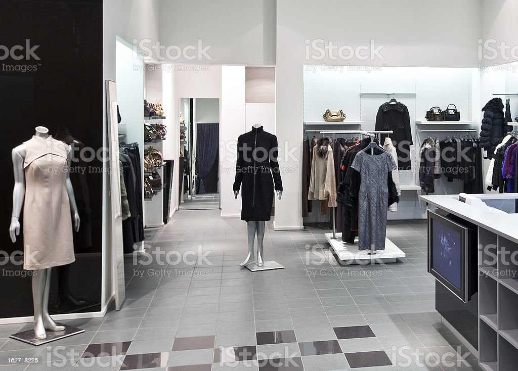 Interior of shopping mall stock photo