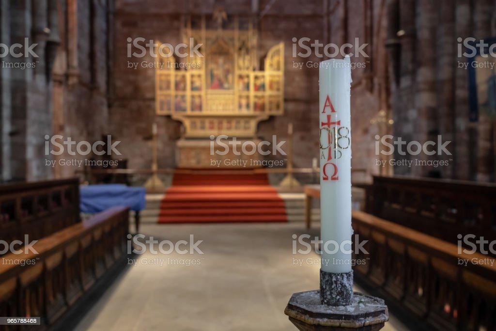 Interieur van de abdij van Shrewsbury in Shropshire - Royalty-free Abdij Stockfoto