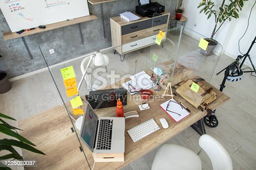 istock Interior of small, modern office 1225020037