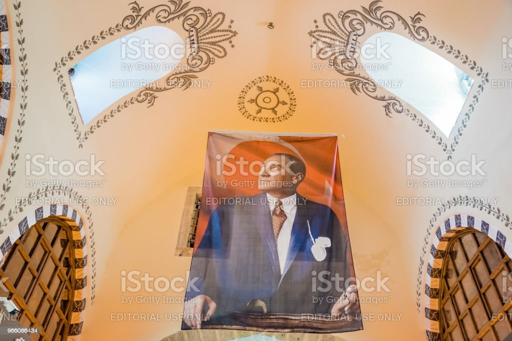Interiör av Spice eller egyptiska basaren i Istanbul - Royaltyfri Affisch Bildbanksbilder