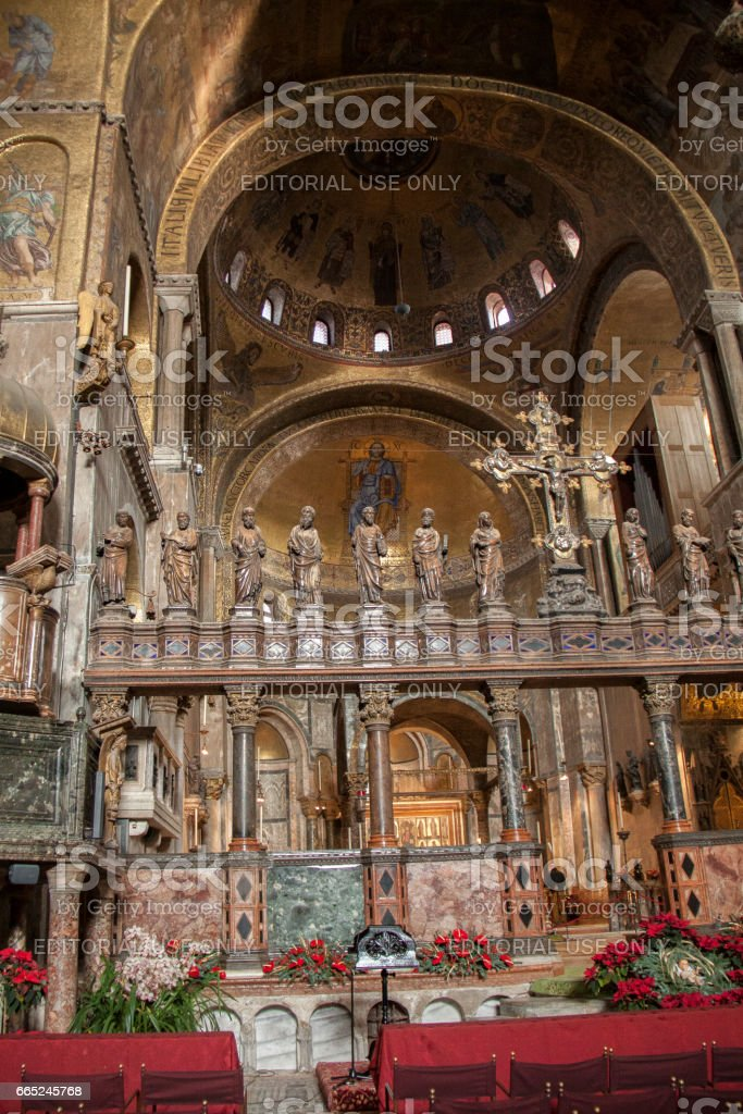 Interior of St. Mark's Cathedral, Venice, Italy стоковое фото