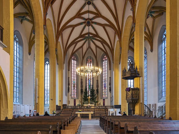 Interior of St. Michael Church in Jena, Germany stock photo