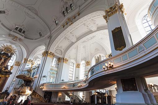 interior of St Michael's Church in Hamburg