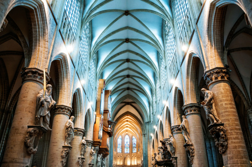 Interior of St. Michel Cathedral, Brussels