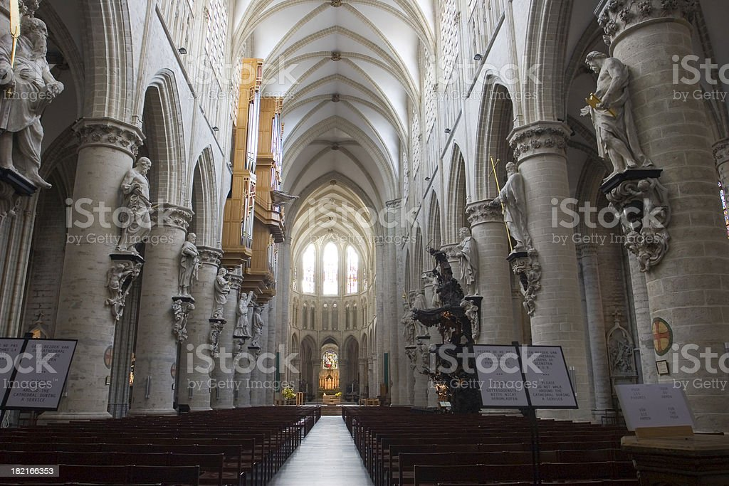 Interior of St. Michel Cathedral royalty-free stock photo