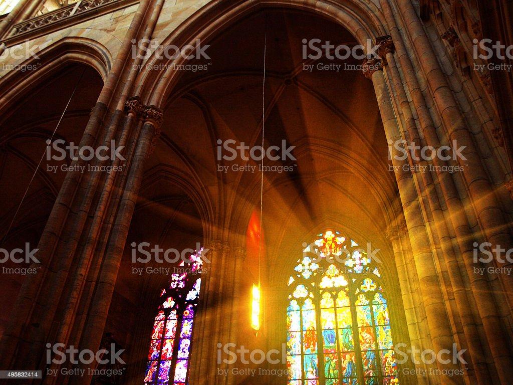 L'intérieur de la cathédrale Saint-Guy de Prague, en République tchèque - Photo