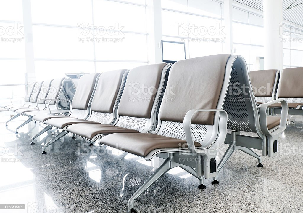 interior of the airport royalty-free stock photo