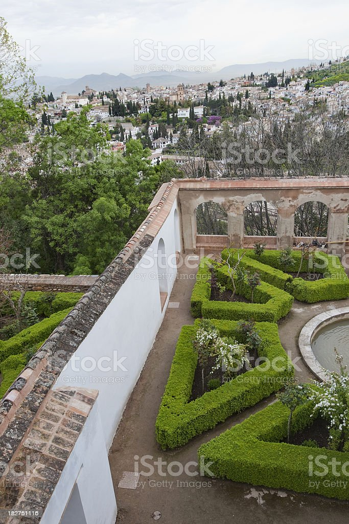Interior of the Alhambra in Granada Spain royalty-free stock photo