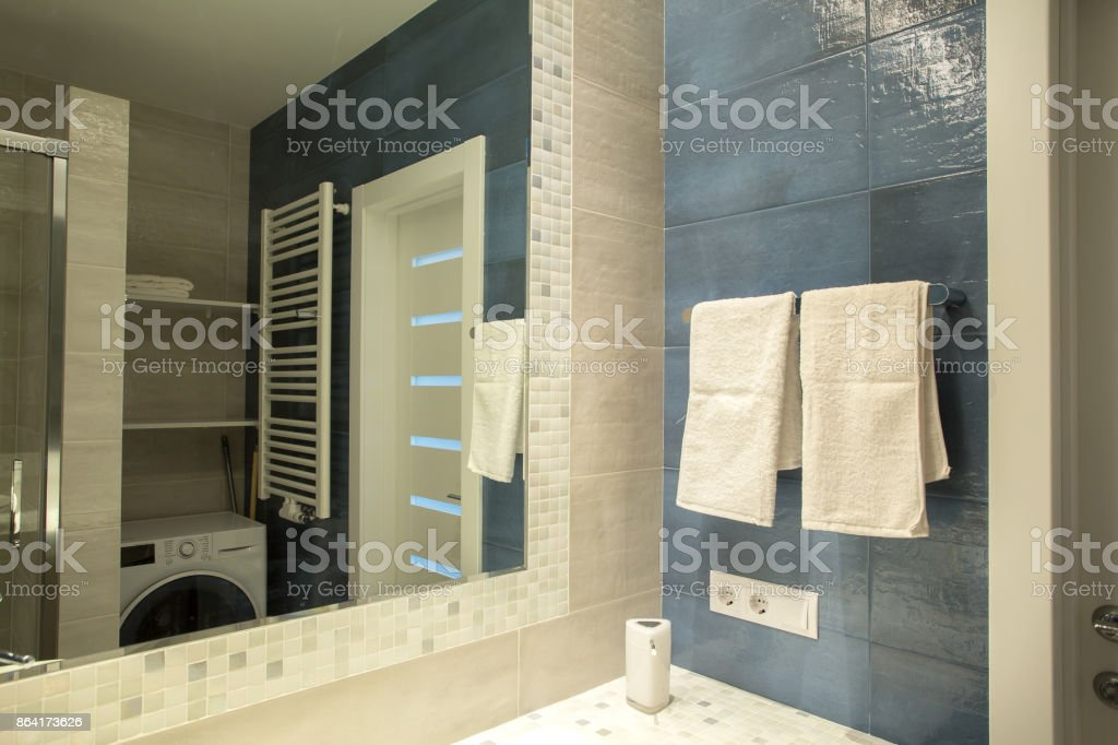 interior of the apartment bathroom, shower room royalty-free stock photo