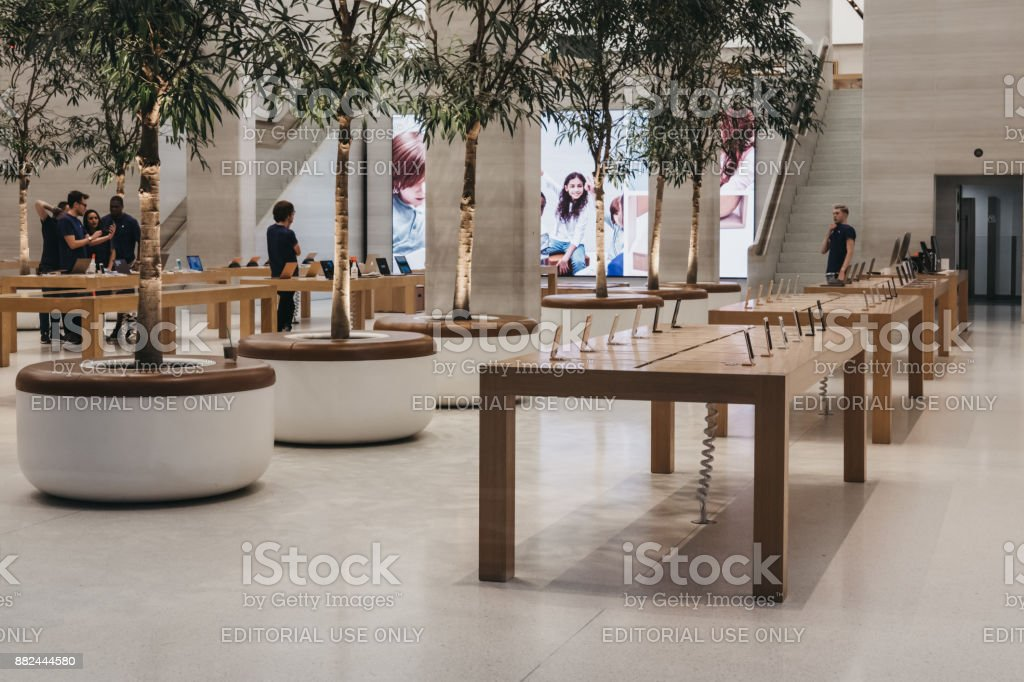 Interior Of The Apple Store On Regent Street London That Recently