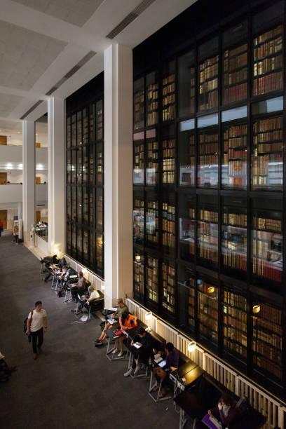 der innenraum der british library in london. - own wilson stock-fotos und bilder