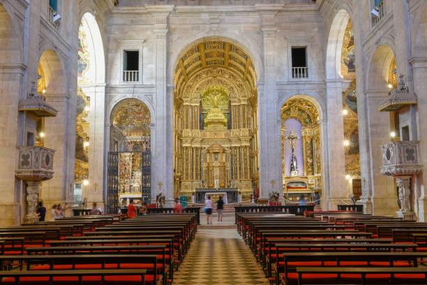 Interieur der Basilika von Salvador Bahia auf Brasilien – Foto