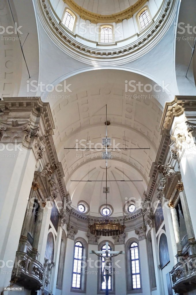 Interior of the Cathedral of Padua royalty-free stock photo