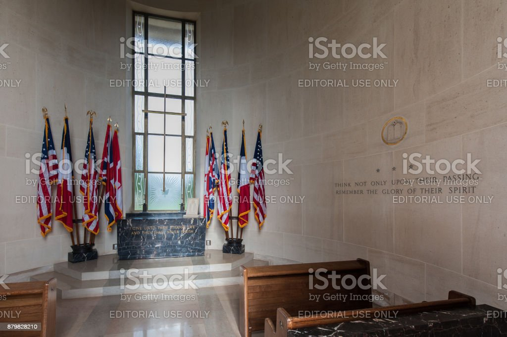 Interior of the chapel at the Normandy American Cemetery stock photo