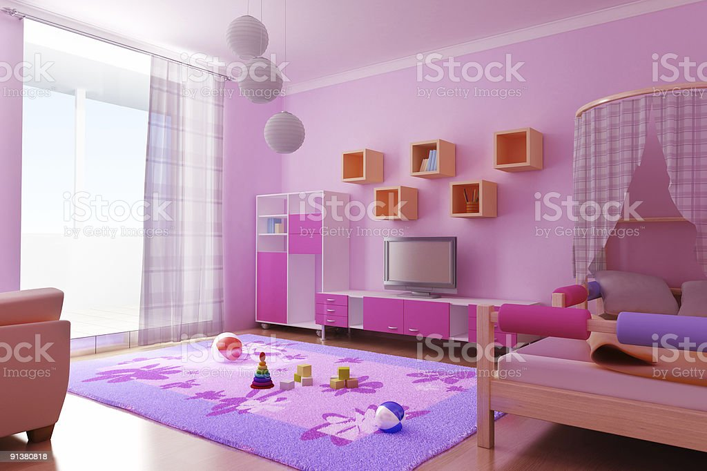 interior of the children's room royalty-free stock photo