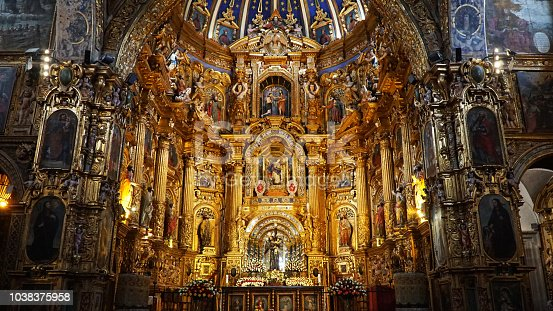 Interior of the Church and Monastery of San Francisco, Iglesia y Monasterio de San Francisco.