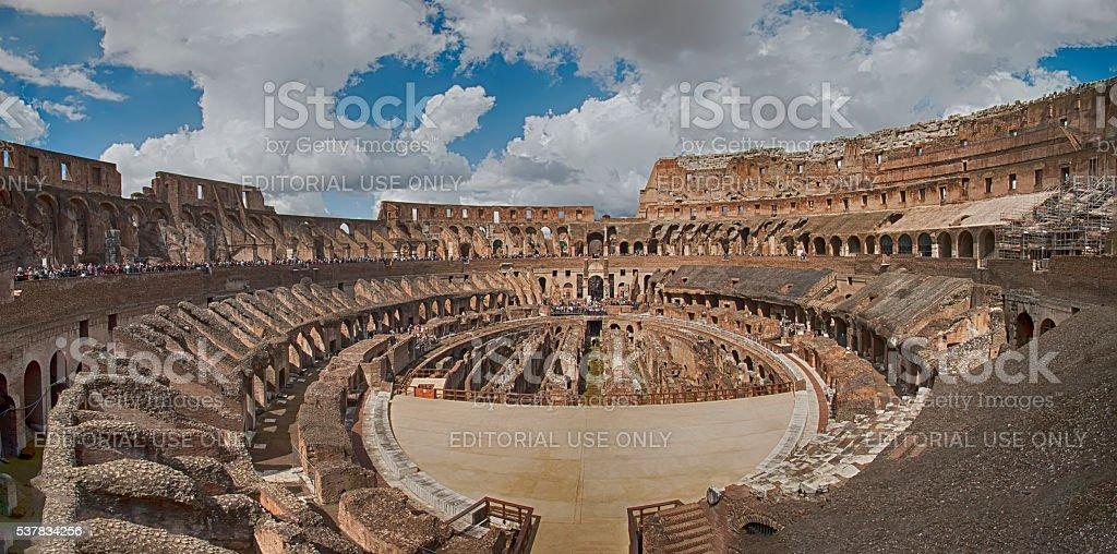 Interior of the Colosseum, Rome - Italy stock photo