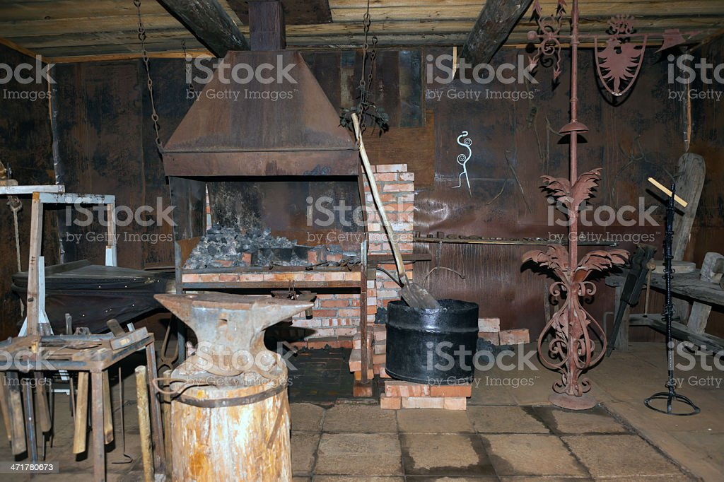Interior of the forge royalty-free stock photo