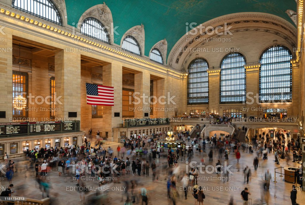 Interior of the Grand Central Station, New York City, United States...