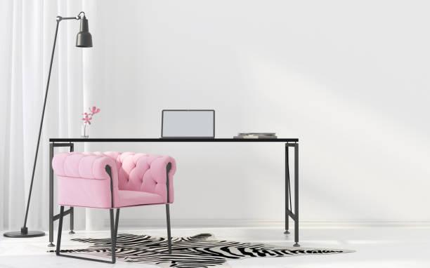 innere des home-office - arbeitszimmer möbel stock-fotos und bilder