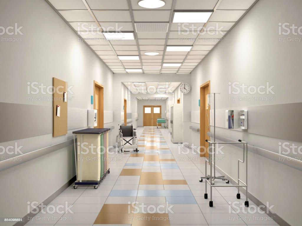 Innenraum von den Krankenhausflur. – Foto