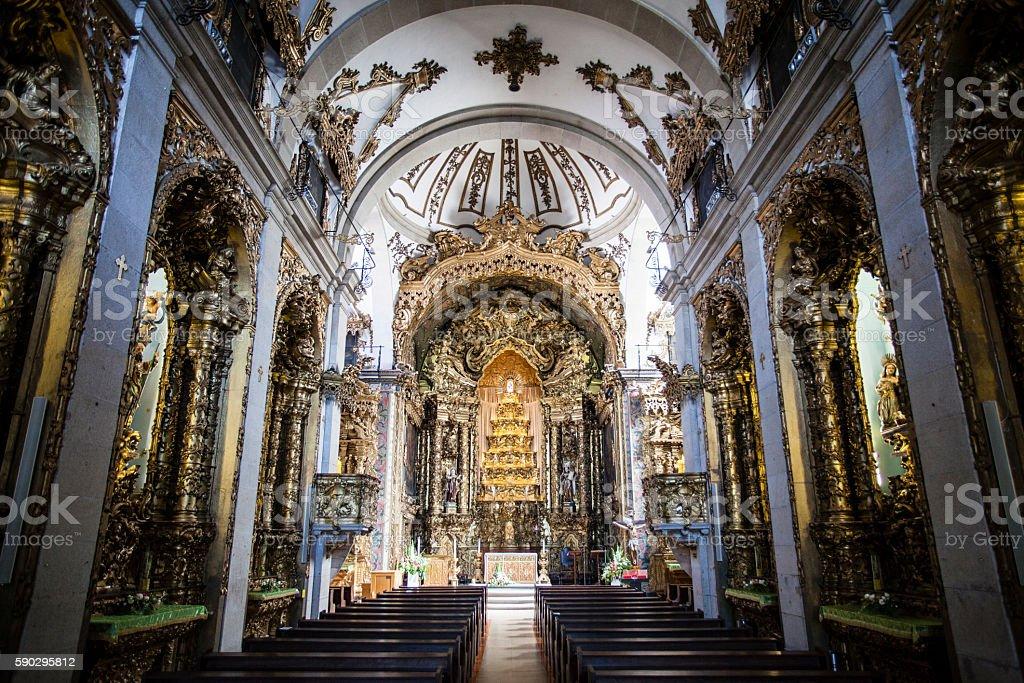 Interior of the Igreja do Carmo church in Porto, Portugal royaltyfri bildbanksbilder