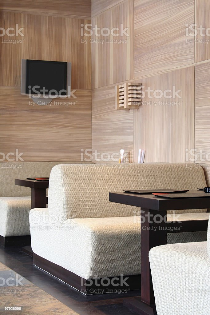 Interior of the Japanese restaurant royalty-free stock photo