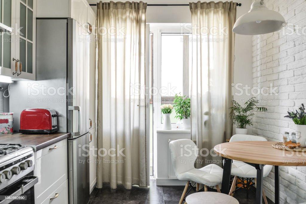 Innere der Küche im skandinavischen Stil – Foto