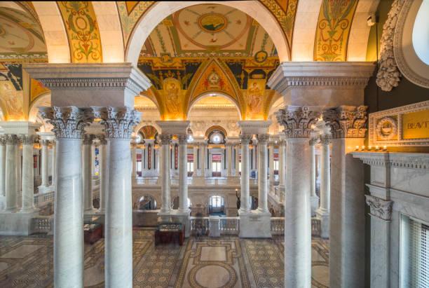 Interieur der Library of Congress, Washington DC – Foto