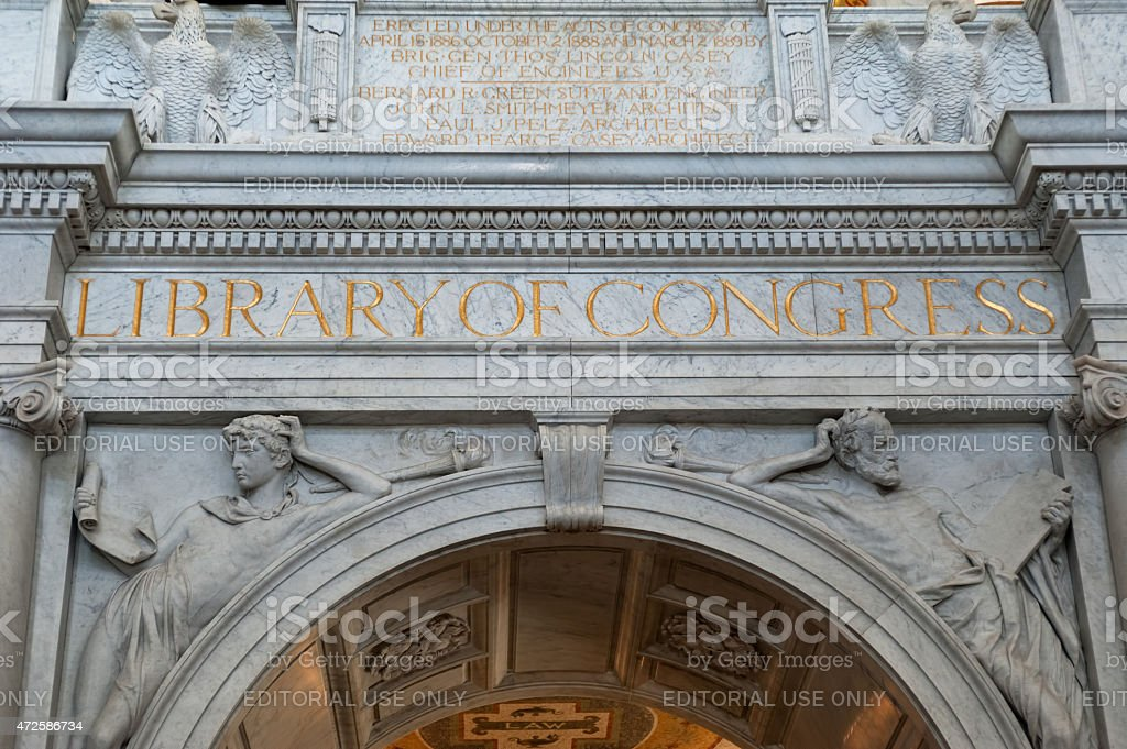 Interior of the Library of Congress,Washington DC stock photo
