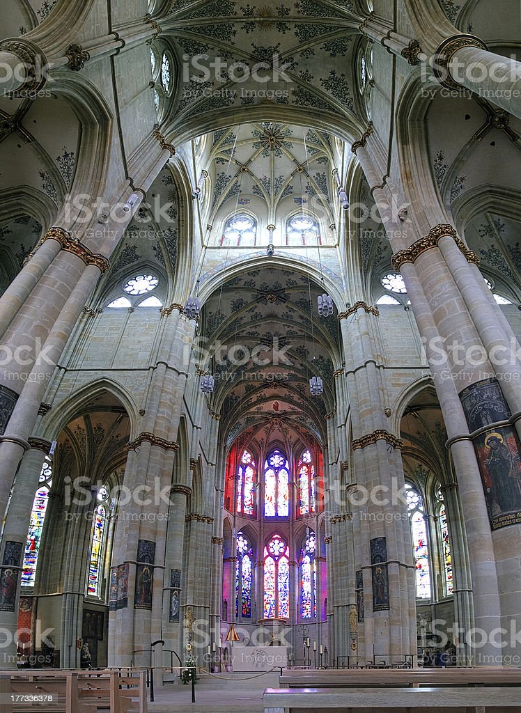 Interior of the Liebfrauenkirche in Trier, Germany royalty-free stock photo