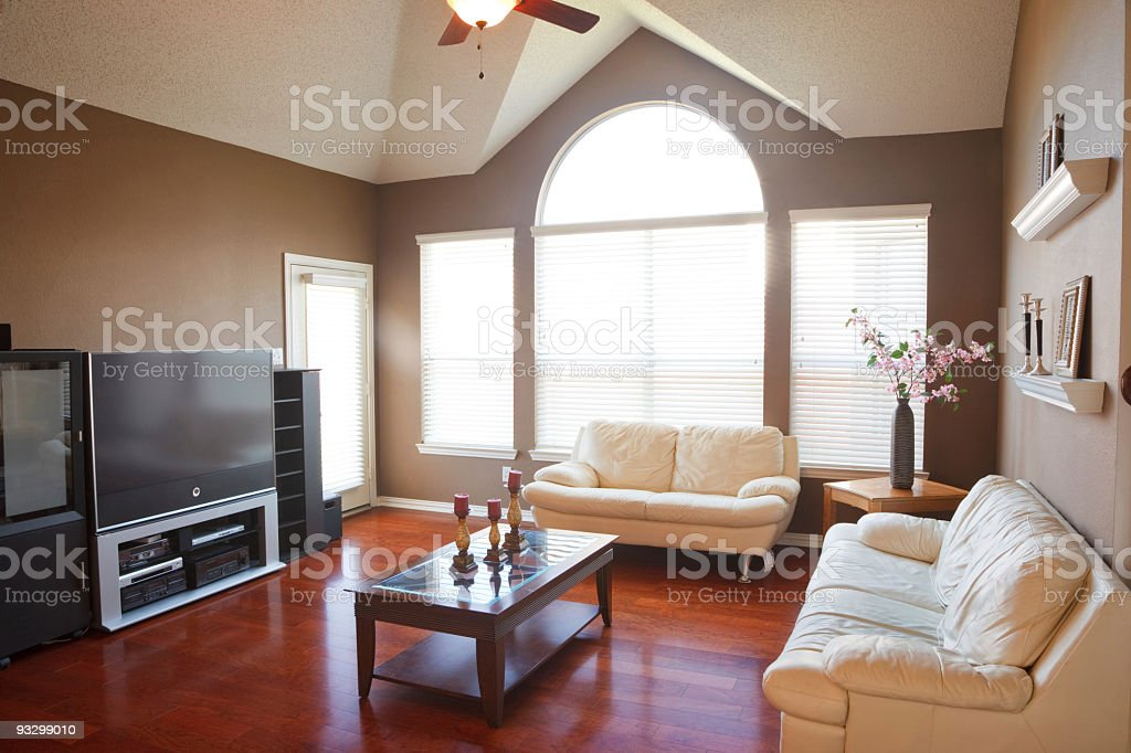 Interior of the living room in a family home royalty-free stock photo
