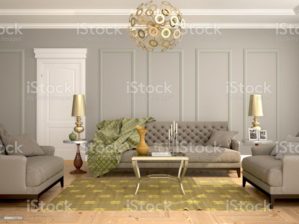 Interior Of The Living Room Modern Classic Style Stock Photo Download Image Now Istock