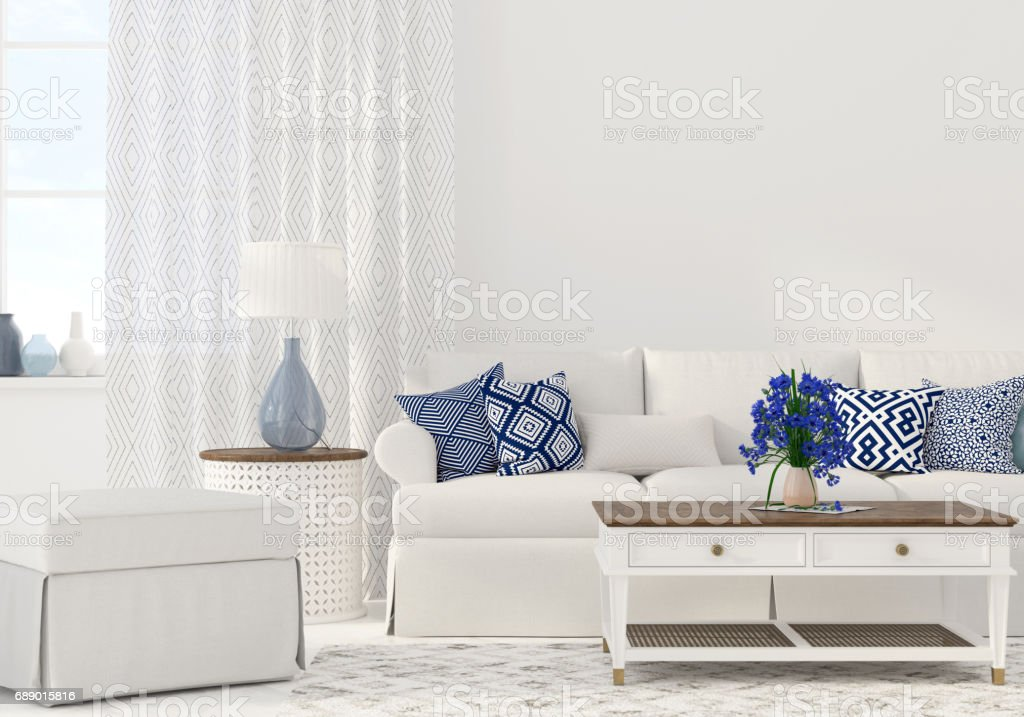Interior of the living room stock photo
