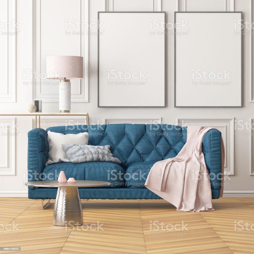 Couleur Salle De Sejour photo libre de droit de intérieur de la salle de séjour avec un canapé  couleur tendance 3d banque d'images et plus d'images libres de droit de  {top