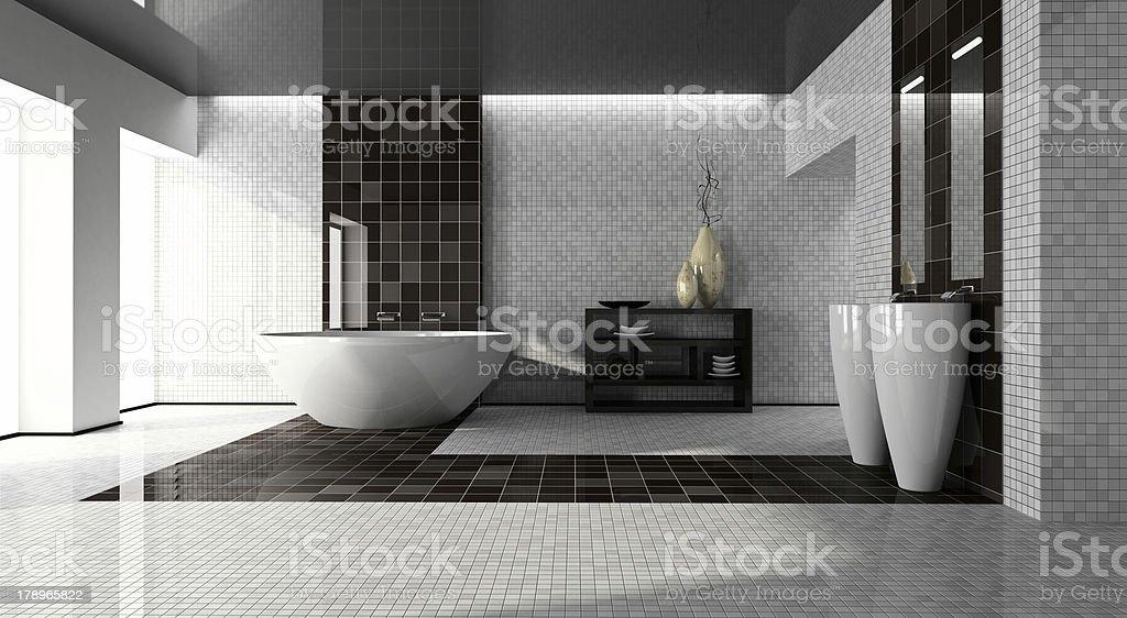 Interno del bagno moderno 3D - foto stock