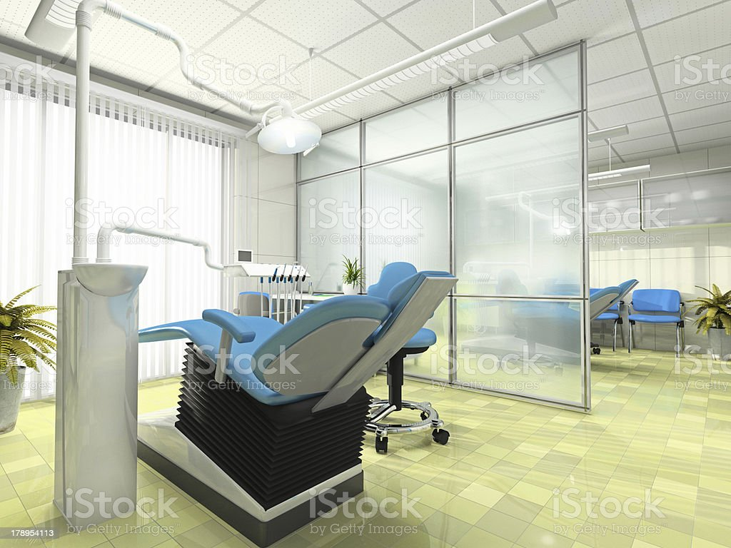 Interior of the modern stomatologic cabinet royalty-free stock photo