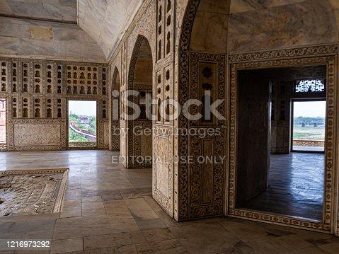 istock Interior of the Musamman Burj, Agra Fort. 1216973292