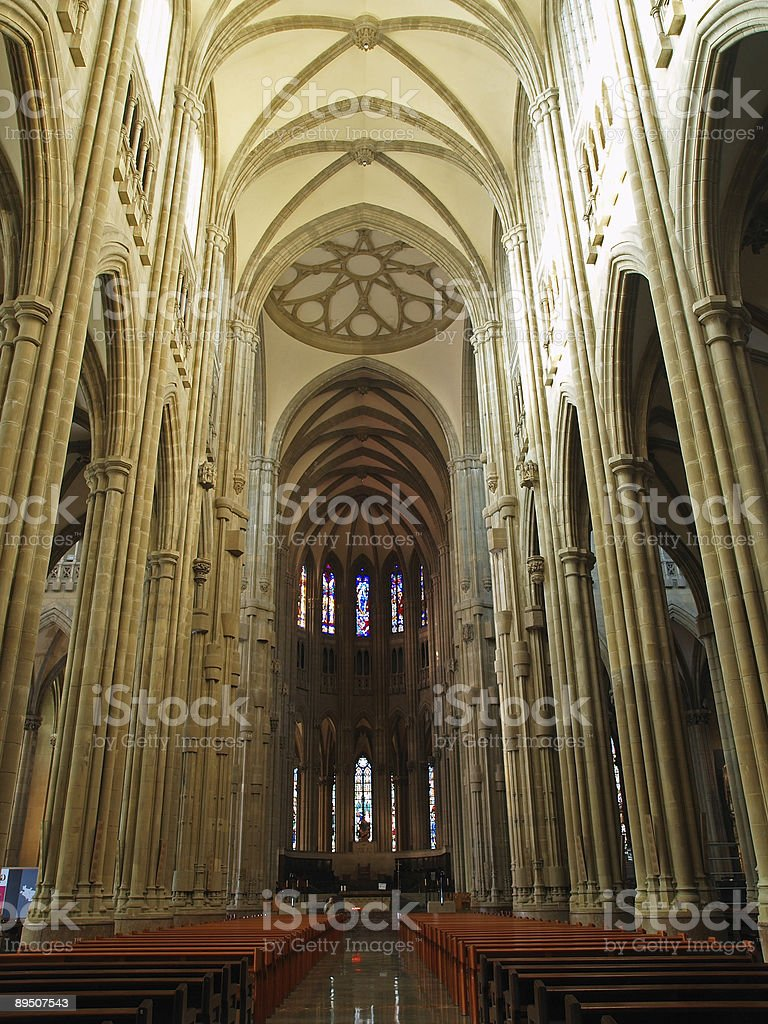 Interior of the New Cathedral in Vitoria, Basque  Country, Spain royalty-free stock photo