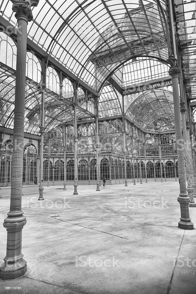 interior of the Palacio de Cristal. Madrid, Spain stock photo