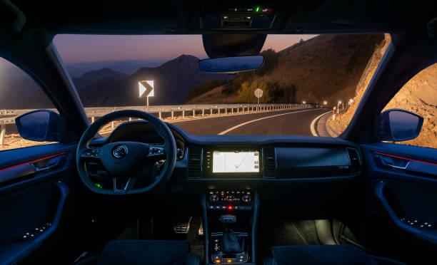Interior of the Skoda Kodiaq SUV in the Sportline version