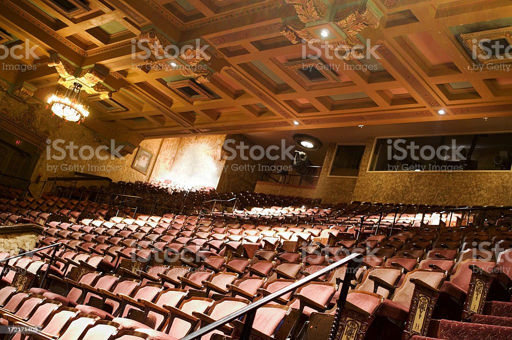interior of the theater stock photo