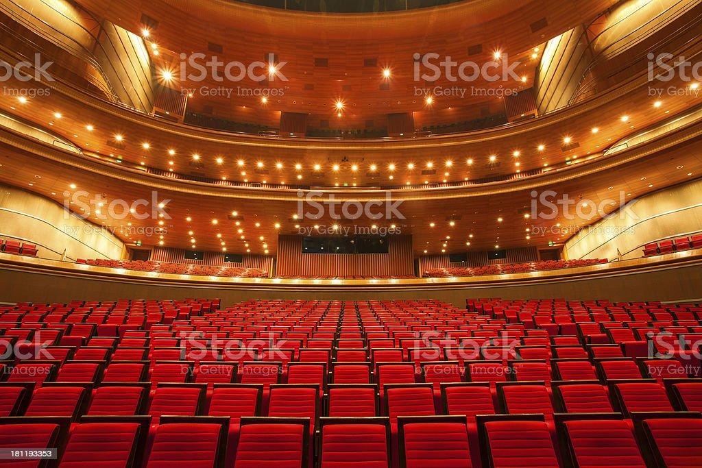 Innenansicht des theater Lizenzfreies stock-foto