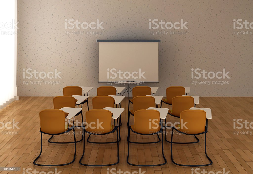 Interior of the training room royalty-free stock photo