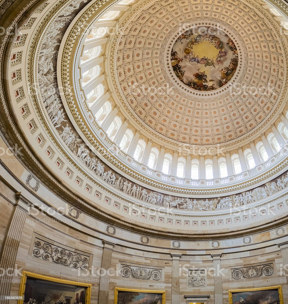 Interior of the United States Capitol Dome stock photo